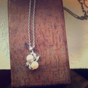 Pearl Necklace on silver chain